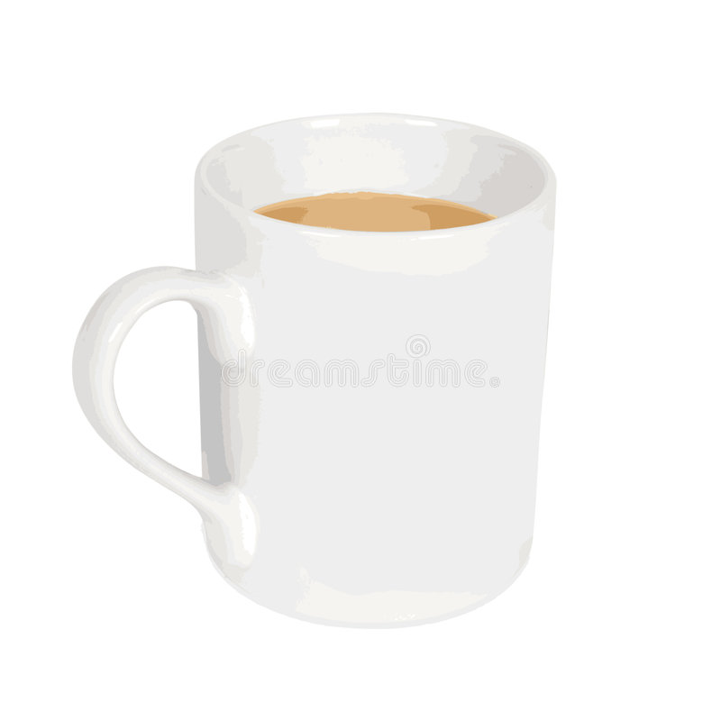 Coffe Mug vectorial. Image of a white coffee mug in vector format vector illustration