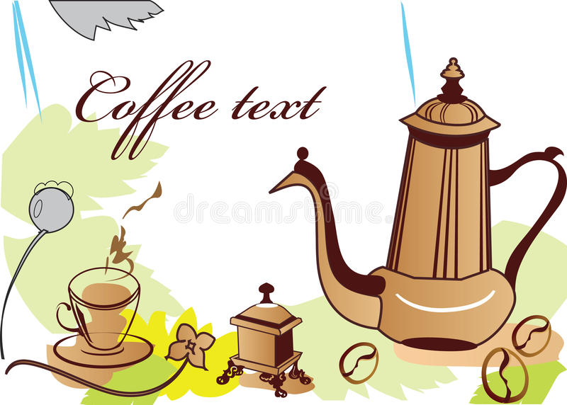 Download Coffe-pot and coffe-cup stock vector. Illustration of coffee - 12916019