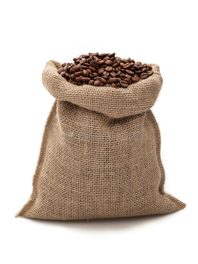 Coffe sack stock photography