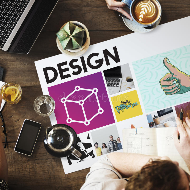 Coffe Simplicity Innovation Work Concept. Coffee Simplicity Innovation Work Design stock images