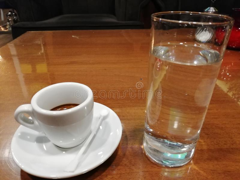 Coffee and water stock photo