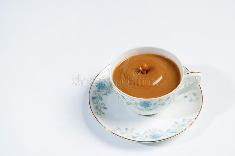 Coffee. Fragrant and delicious milk coffee ( Close-up royalty free stock image