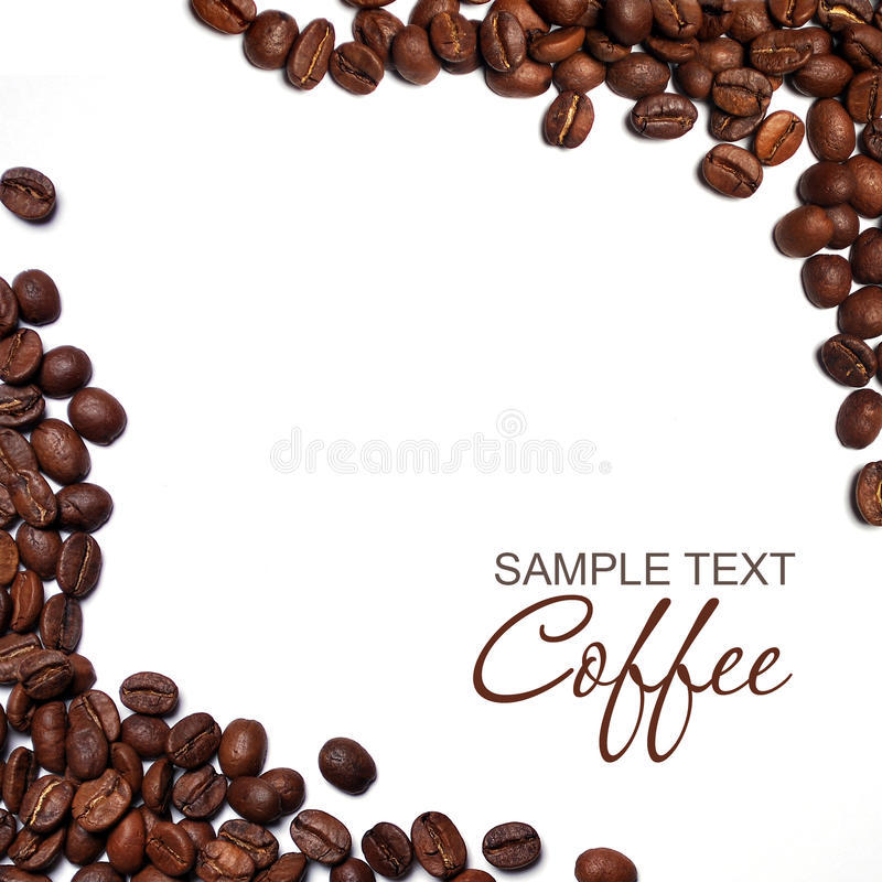 Coffee. Frame isolated on white royalty free stock photography