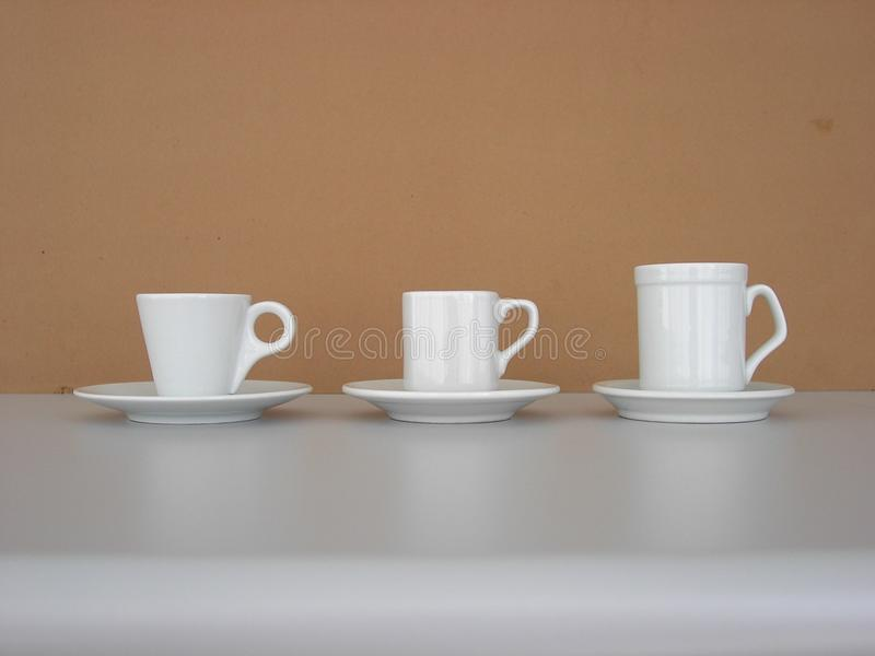 Coffee 3 cups stock photography