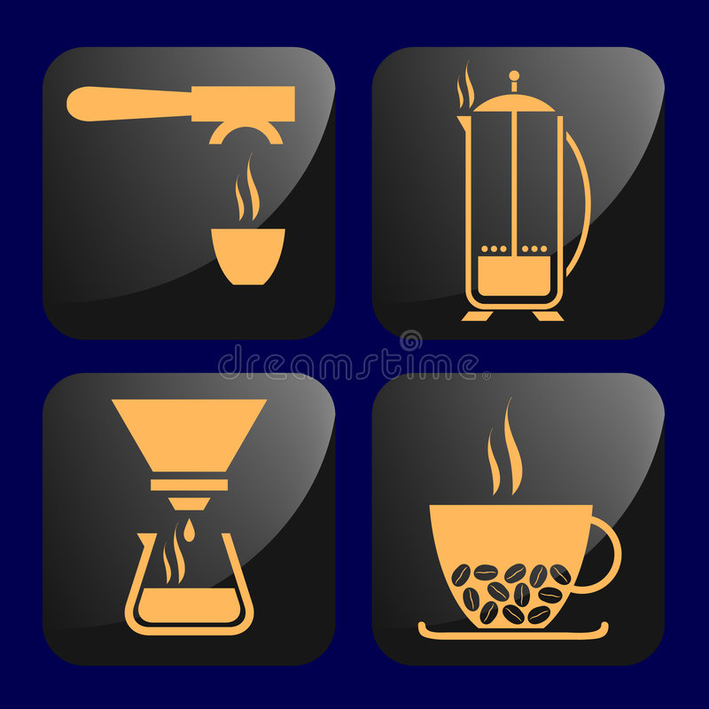 Download Coffee stock vector. Image of plunger, cappuccino, medium - 4896112