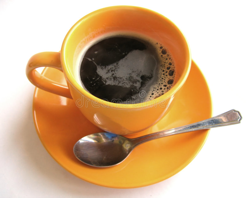 Coffee #5. A cup of black, hot coffee