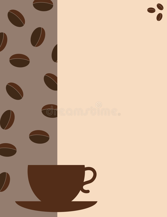 Coffee. House vector menu cover royalty free illustration