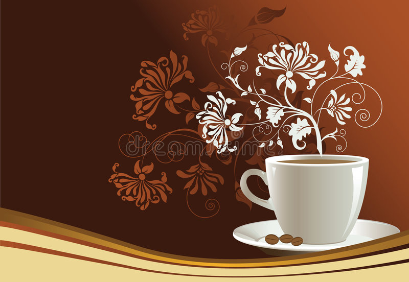 Download Coffee stock vector. Image of morning, caffeine, cappuccino - 7472737