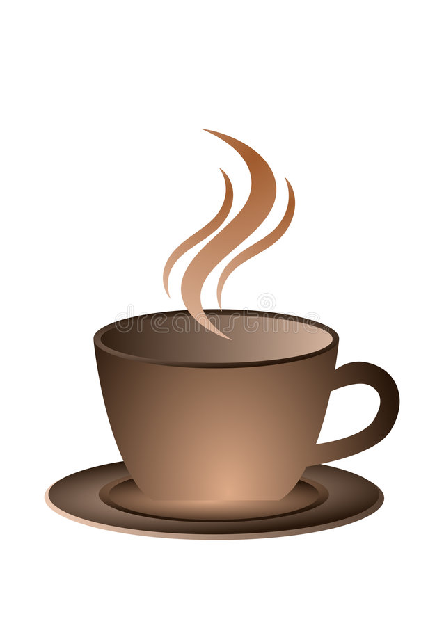 Coffee. Illustration of a cup of coffee stock illustration