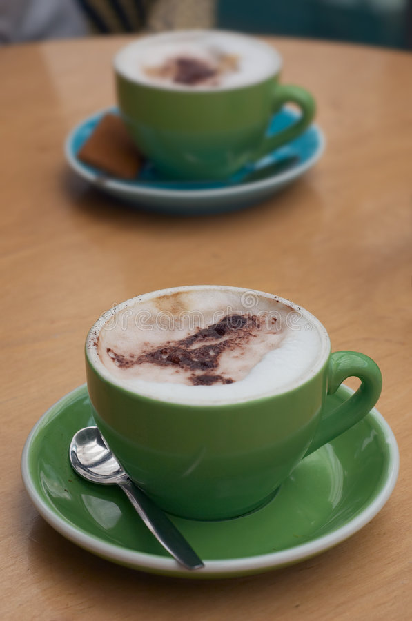 Coffee. With trendy colors stock photos