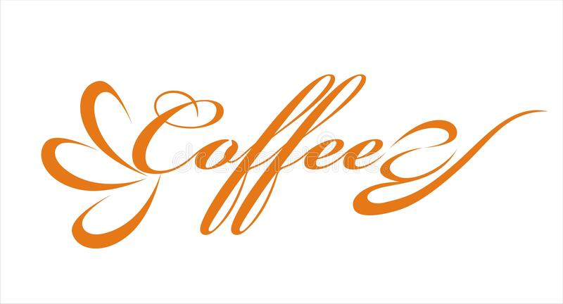 Coffee. Text vector interesting design royalty free illustration