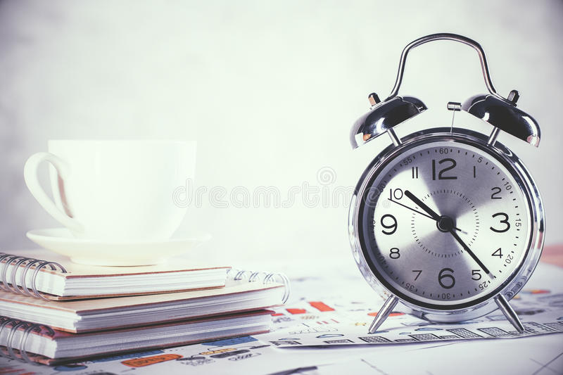 Coffee and alarm royalty free stock images
