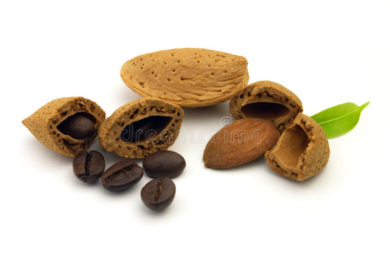 Coffee and almond royalty free stock images