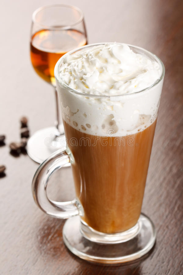 Download Coffee with amaretto stock photo. Image of foam, beans - 14464068