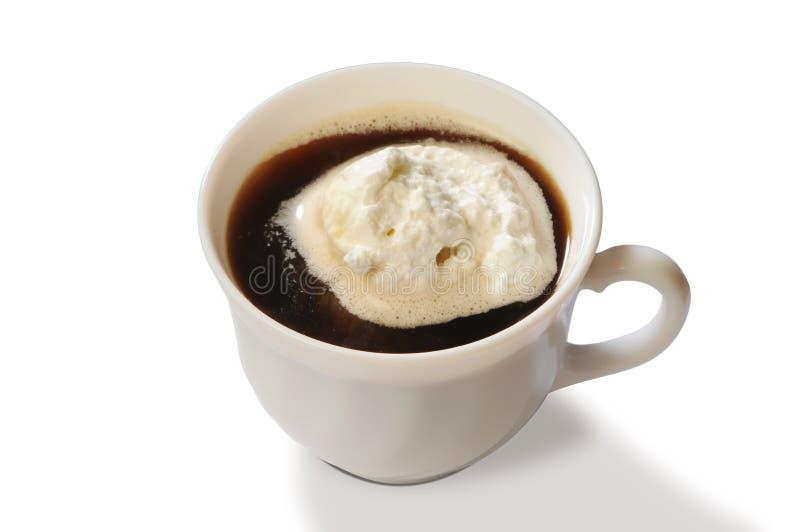 Coffee&Ice-crema immagine stock
