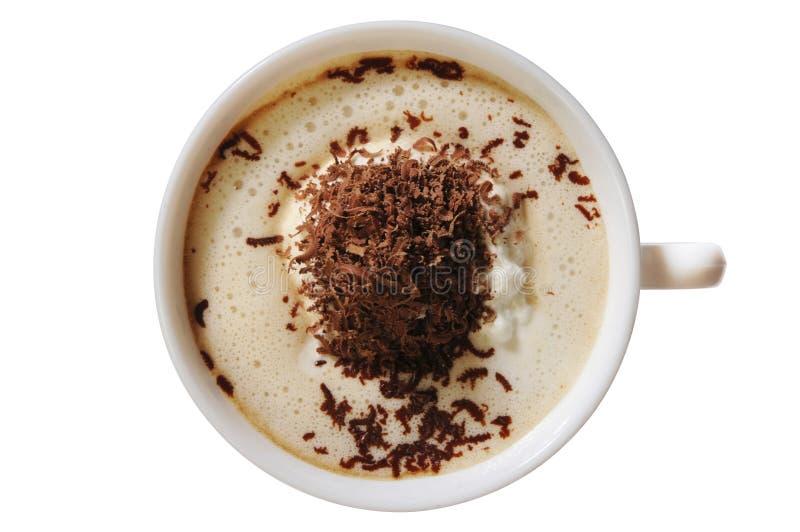 Coffee&Ice-crema da sopra immagine stock libera da diritti