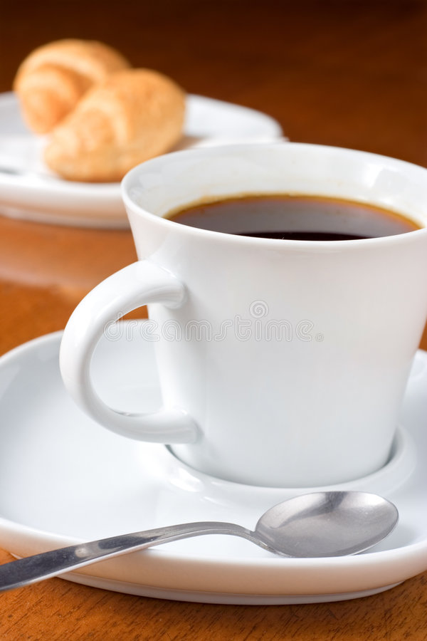 Free Coffee And Croissants Royalty Free Stock Photo - 1774475