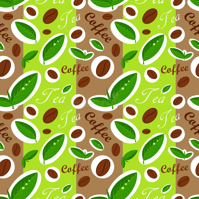 Free Coffee And Tea Pattern Royalty Free Stock Photos - 24778048