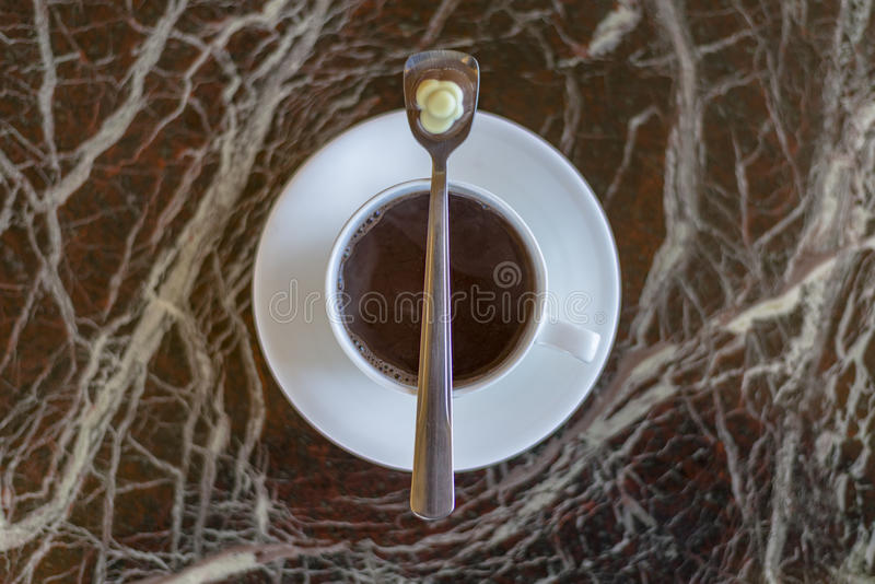 Coffee aroma cappuccino chocolate cofee cup empty hot espresso drink break milk morning royalty free stock photo