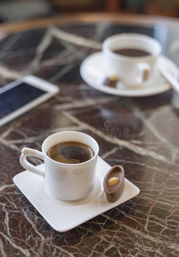 Coffee aroma cappuccino chocolate cofee cup empty hot espresso drink break milk morning stock photo