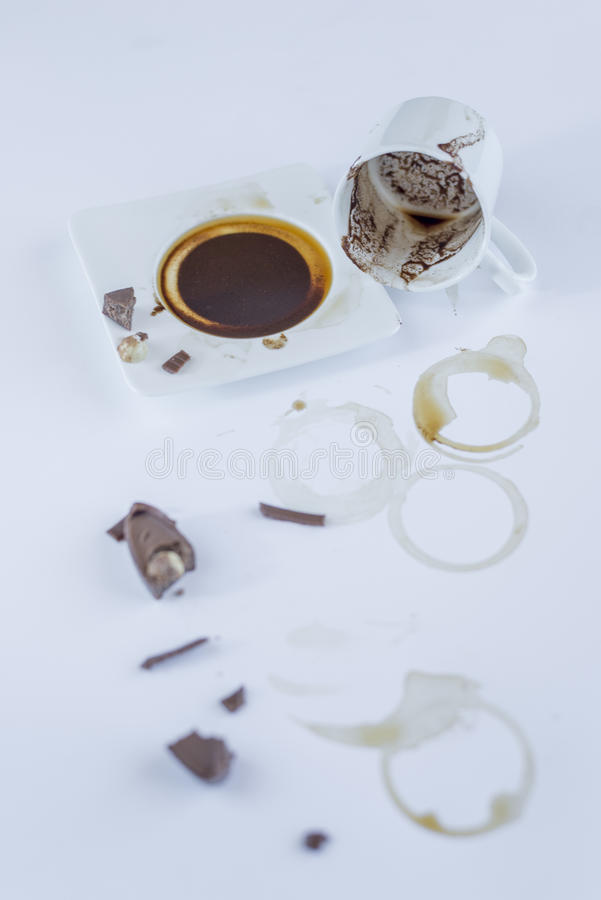 Coffee aroma cappuccino chocolate cofee cup empty hot espresso drink break milk morning stock images