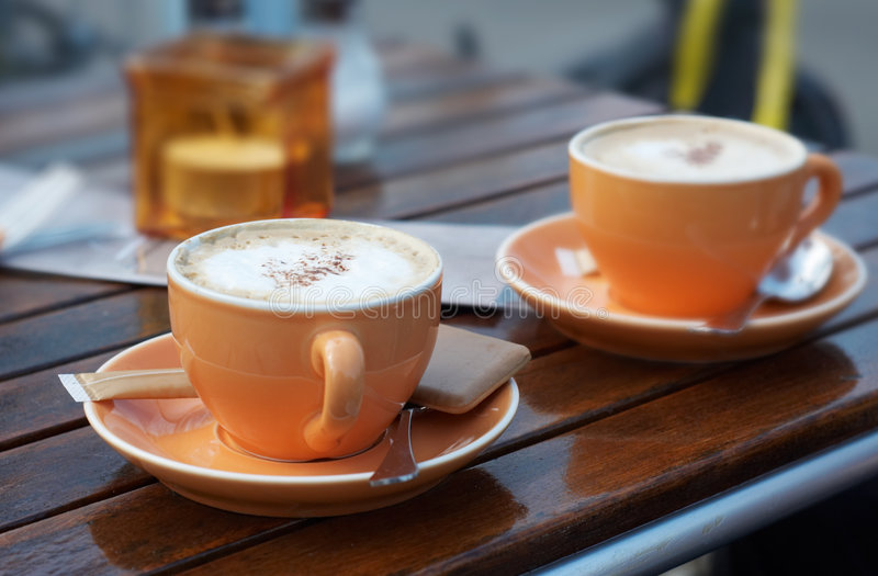 Coffee background. With trendy colors royalty free stock photos