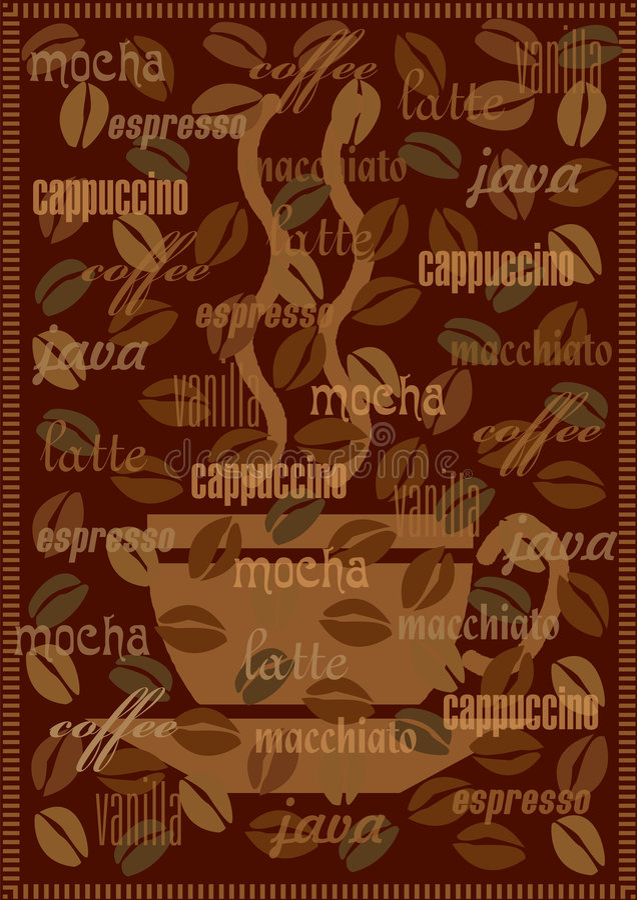 Coffee background stock illustration