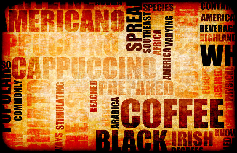 Coffee Background stock illustration