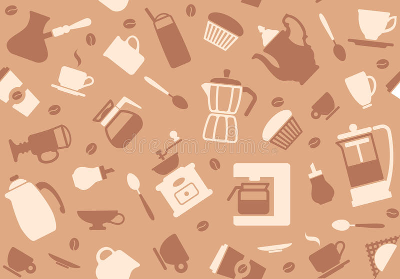 Coffee background. Seamless background on a coffee theme vector illustration