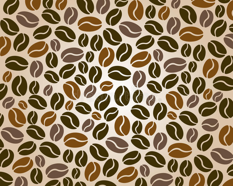 Coffee background three color royalty free illustration