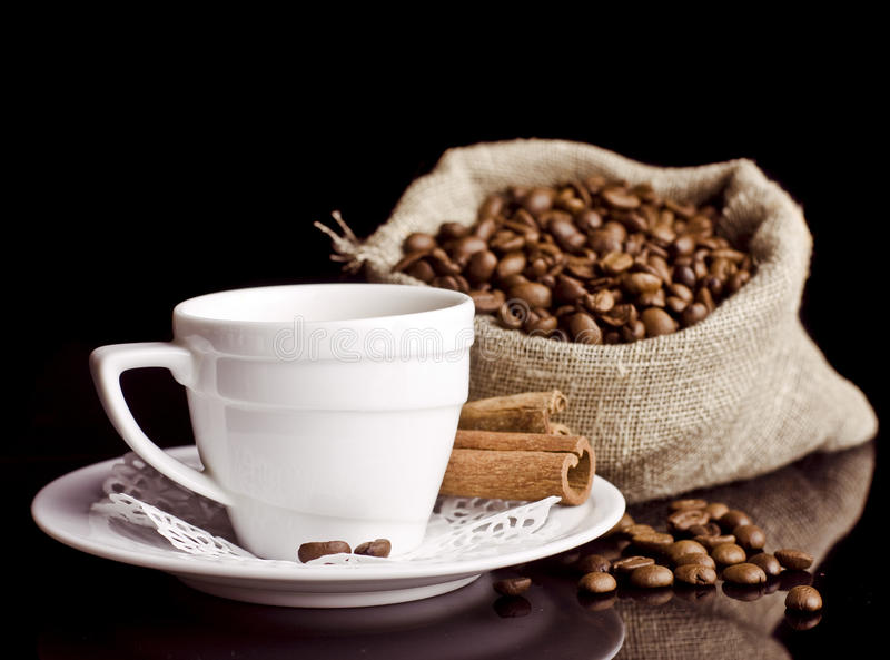 Download Coffee Background And White Cup Stock Image - Image: 24059501