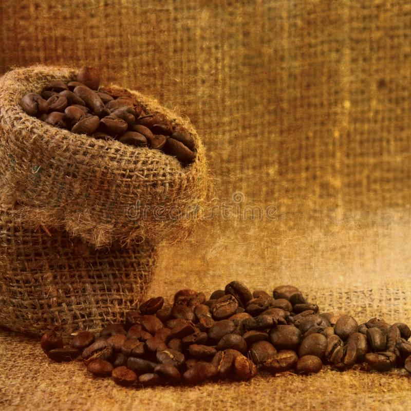 Coffee bag royalty free stock images