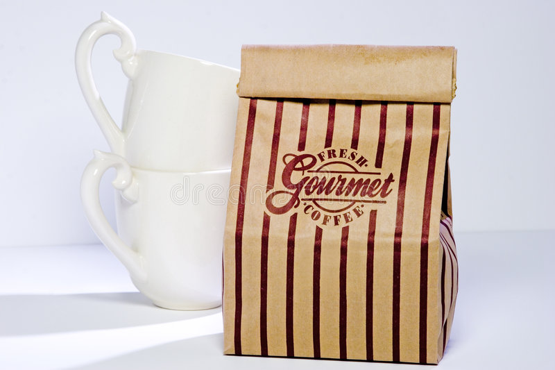 Coffee Bag and Cups stock image