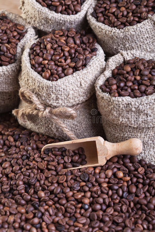 Download Coffee in bags stock image. Image of taste, close, beans - 28828057