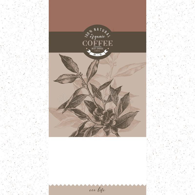 Coffee banner vector template stock illustration