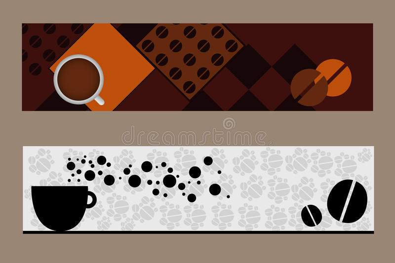 Coffee Banners Royalty Free Stock Photography