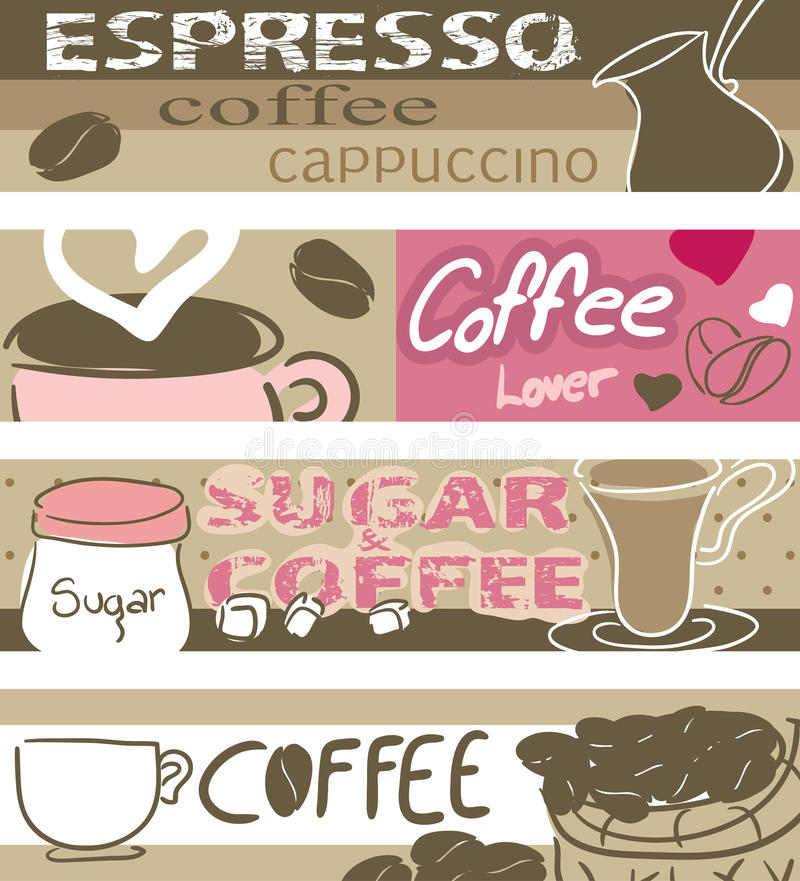 Download Coffee banners stock vector. Image of heart, design, cafe - 27834967