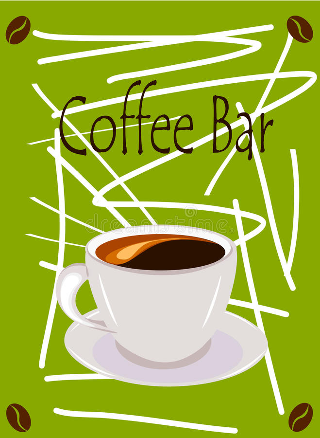 Download Coffee bar stock vector. Image of coffee, crema, wallpaper - 24063131