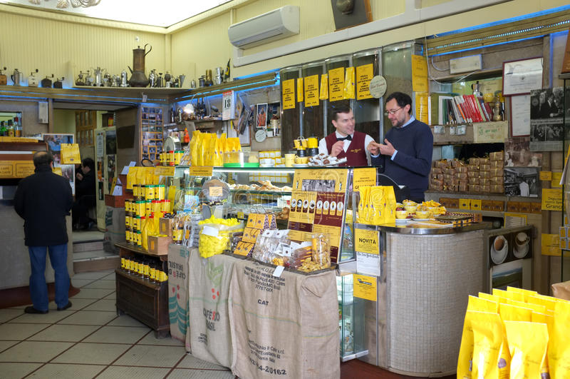 Coffee Bar In Rome Editorial Stock Photo