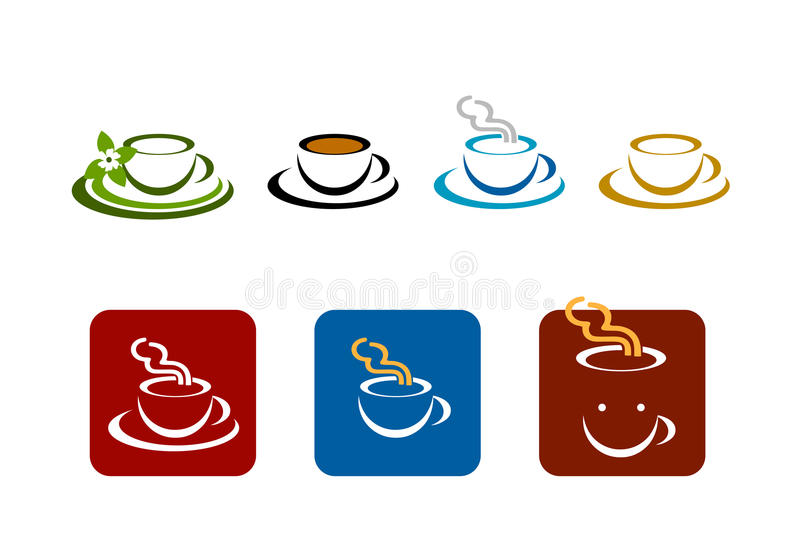 Coffee Bar Shop Vector Brands Logo Stock Images