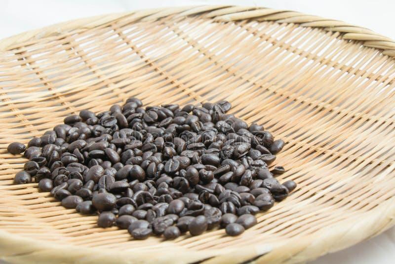 Coffee bean in basket stock photo