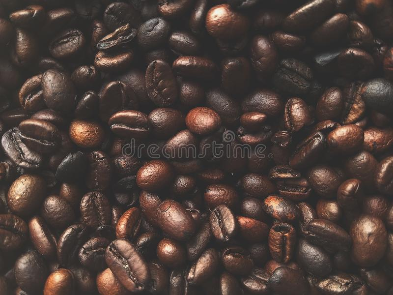 Coffee bean.blur coffee bean color Vintage tone,for background have copy space royalty free stock image
