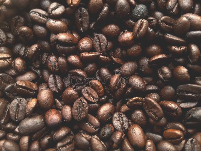 Coffee bean.blur coffee bean color Vintage tone,for background have copy space stock photo