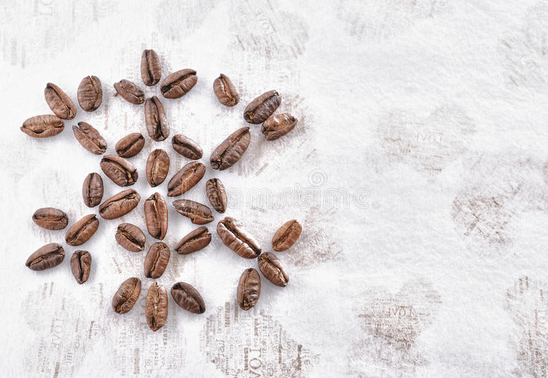 Coffee Bean with Christmas stock images