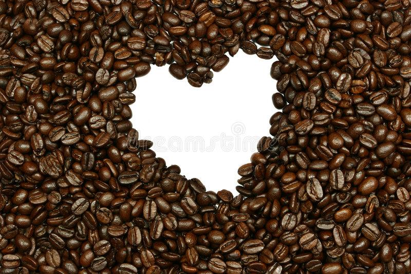 Download Coffee Bean Heart Royalty Free Stock Image - Image: 505346