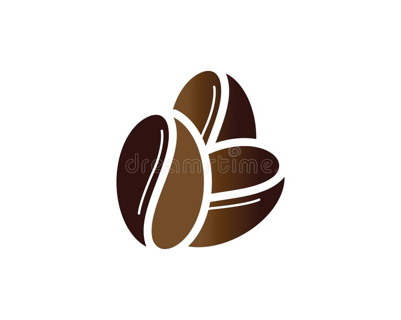 Coffee bean icon. Coffee Beans Logo Template vector icon design stock illustration