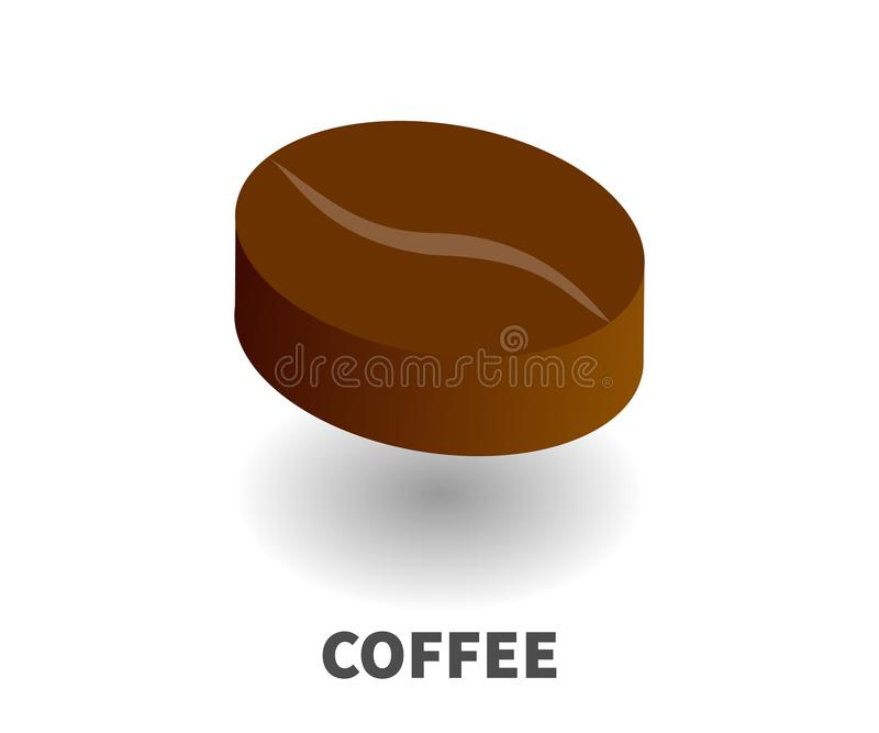 Coffee bean icon, vector symbol. royalty free illustration