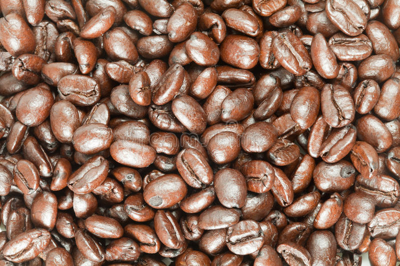 Coffee bean after roast stock images