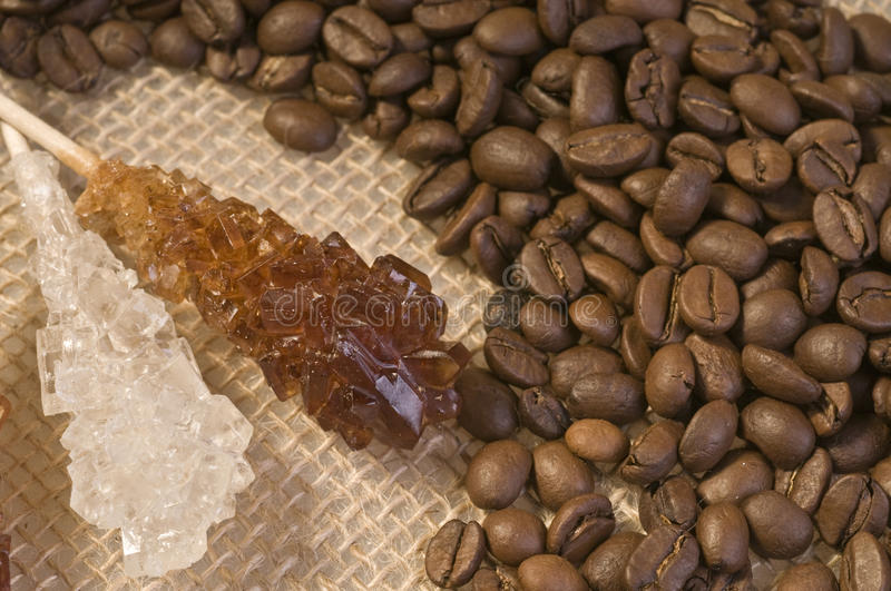 Coffee bean and sugar food royalty free stock images