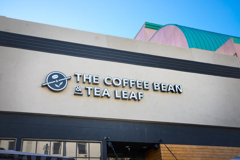 Coffee Bean And Tea Leaf Cafe Sign Editorial Stock Image Image Of Ground Brew 147629299